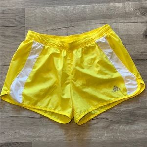 Adidas yellow running Athletic shorts